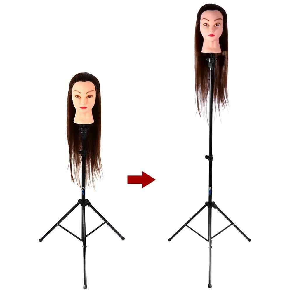 Adjustable Tripod Stand Holder Mannequin Head Tripod Hairdressing Training Head Holder Hair Wig Stand Hair Trainning Tool