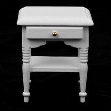 1/12 2x кукольный шкаф для спальни Миниатюрные модели мебель украшение дома белое дерево