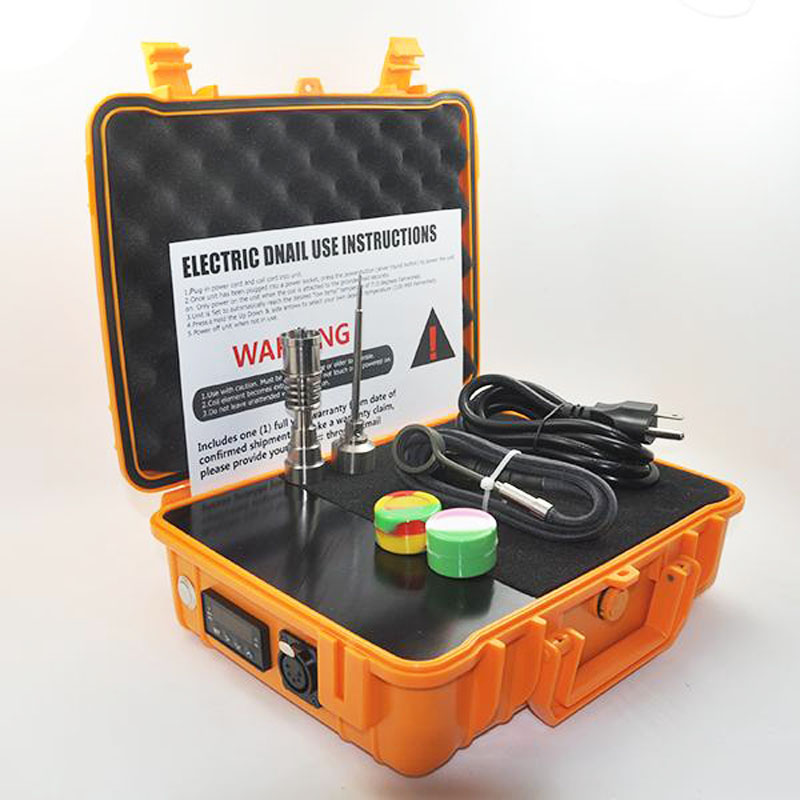 Elétrica Kit Portátil Enail Dab Prego 3dnail Dabber rig Hastes De Titânio Caixa 0B 20mm Temperatura Da Bobina de Aquecimento Aquecedor Elétrico