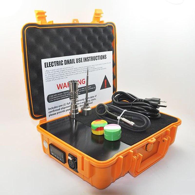 Kit d'enail à ongles électrique Dnail Dab Portable plate-forme de Dabber clous en titane boîte de chauffage électrique chauffage 20mm température de bobine 0B