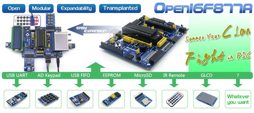 PIC16F877A development board