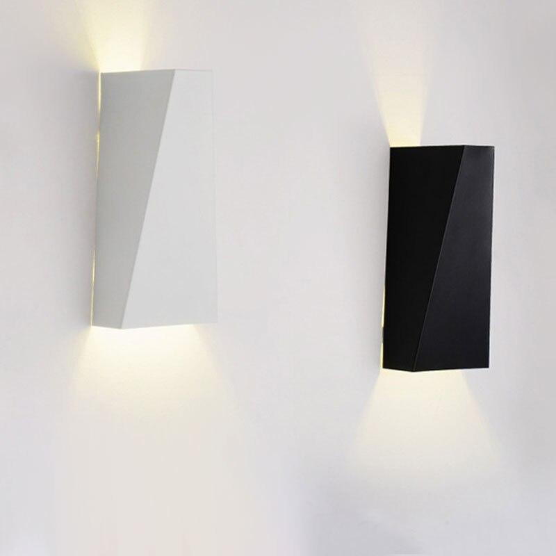 Moderne Minimaliste Double Geometrie 10 W Led Mur Lampe De Chevet