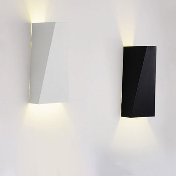 Moderne minimaliste Double géométrie 10 W mur LED lampe lampe de chevet intérieur applique murale SMD 5730 AC 85-265 V
