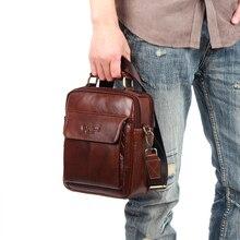100% Natural Genuine Leather Shoulder Bag for Men