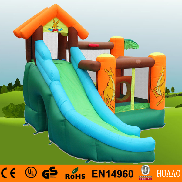 Free Shipping Kangroo Mini Bouncer Slide Inflatable Indoor Playground for kids with Free CE blower