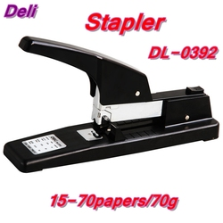 Deli 0392 heavy large stapler office supplier for 15-70 papers/70g paper with 23/6-23/10 staple retail paking