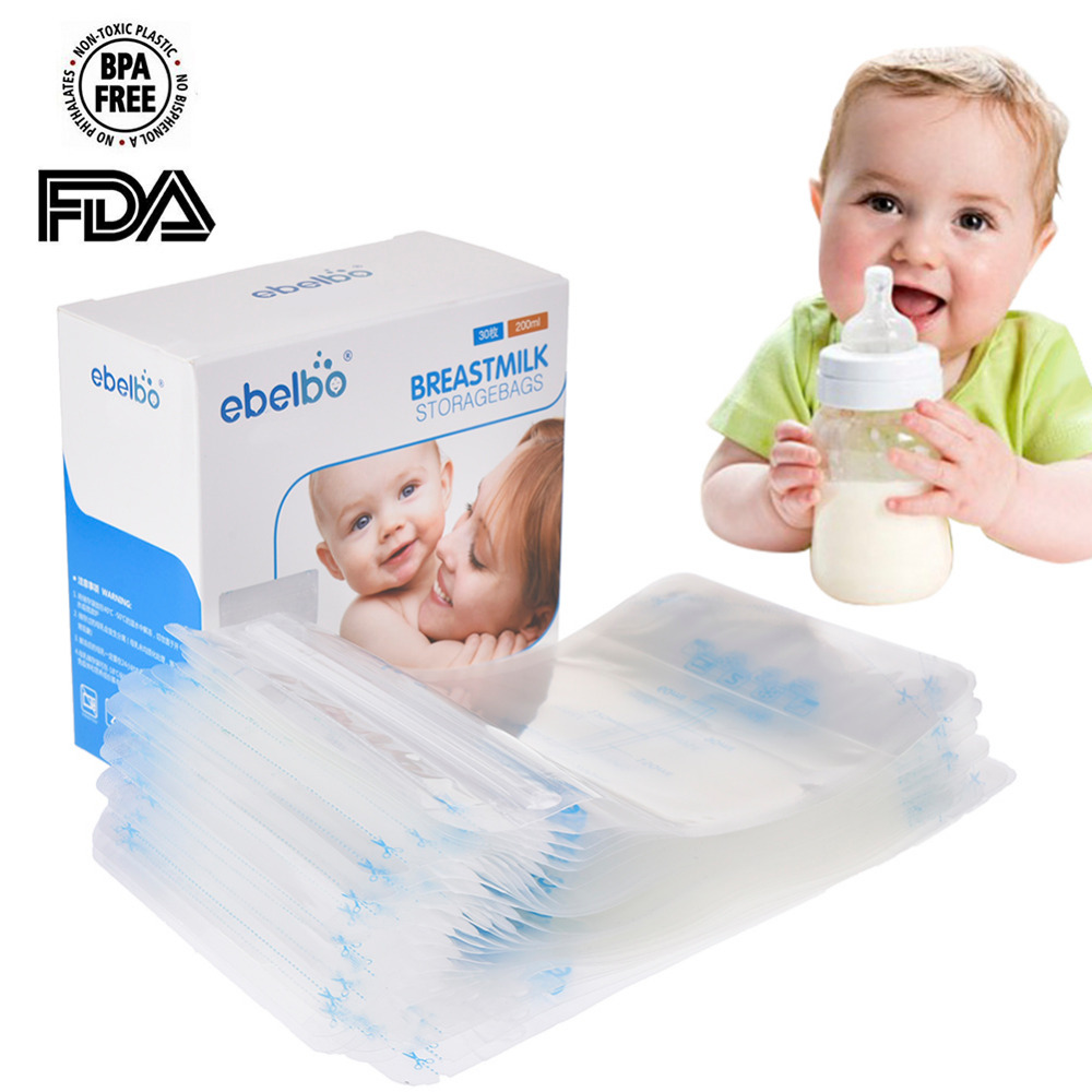 30 PCS Mother Baby Supplies Breast Milk Storage Bag 200 ML Polyethylene Food Grade Maternal Baby Storage Milk Pouch ...