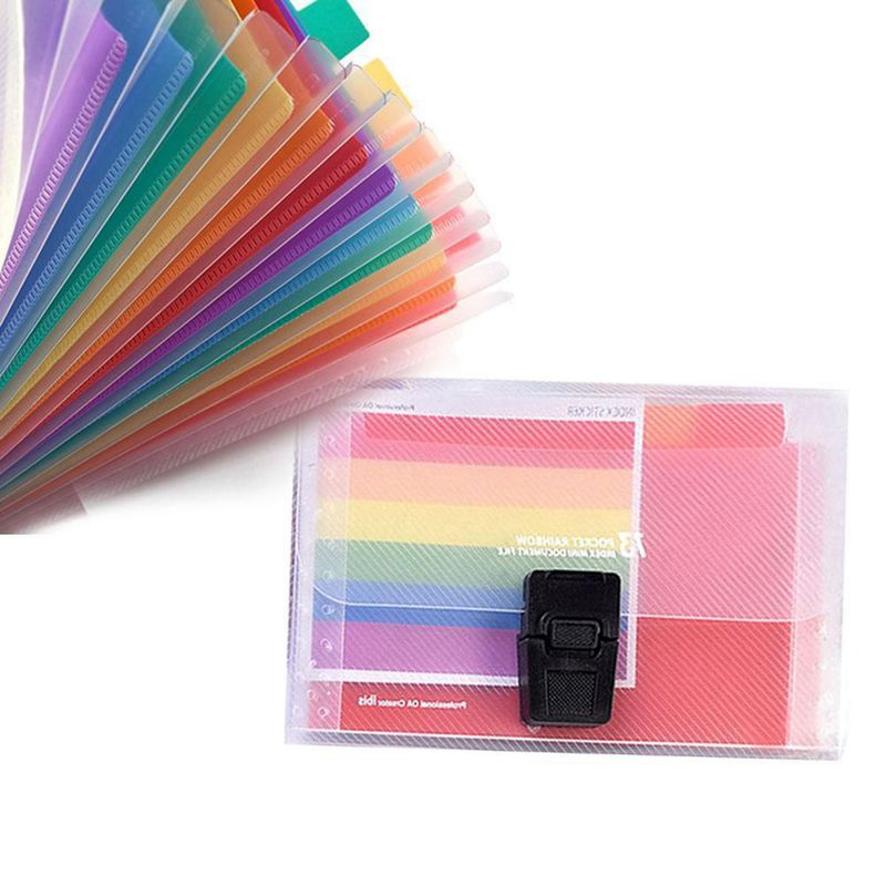 13 Pocket Folder Office Expanding File Colorful Organizer Document