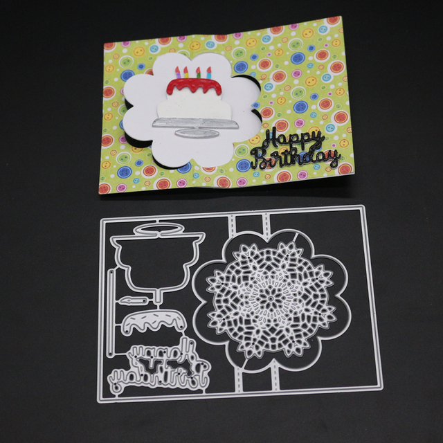 Bi Fujian Metal Cutting Dies Pop Up Happy Birthday Card Scrapbook
