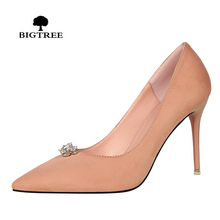 BIGTREE Office Women Shoes Sexy Crystal High Heels Wedding Bridal Shoes Party Shoes For Womens Pumps Heels Shoes Chaussure Femme(China)