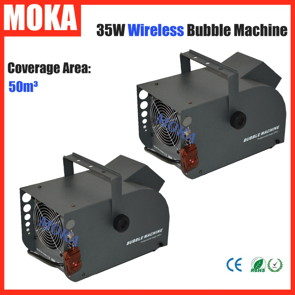 2 Pcs Wireless remote 35W bubble machine wedding Roller Double Blower Fans Soap Bubble Blower