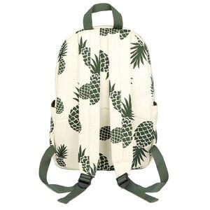 Image 5 - Vintage moda ananas gençler için sırt çantaları kızlar yüksek kaliteli kanvas laptop sırt çantası meyve baskılar kadın seyahat sırt çantası