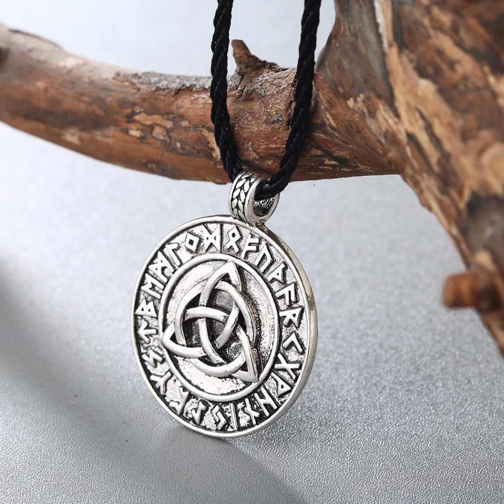 Collier homme CHENGXUN Style gothique Punk pendentif amulette Viking nodique nœud d'amour infini Talisman slave bijoux hommes garçon collier