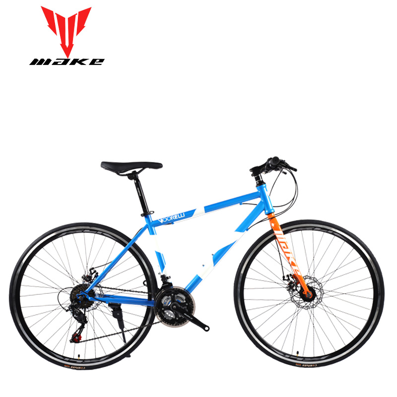 Road Bike MAKE 700X25C 21 Speed Disc Brakes Steel Frame