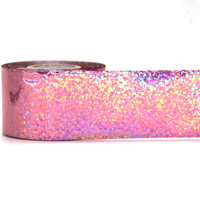 120M*4CM Laser Pink Cat's Eye Nail Foils Holo Nail Art Transfer Foil Stickers for Nail Charms Manicure Nail Art Decorations holographic manicure nail art foils diy glitter holo transfer nail foil roll women nail sticker decorations 120m 4cm wy299