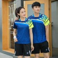 2018 men women Table Tennis clothes Male/Female , Tennis sets , badminton clothes , sports shirts +shorts , pingpong clothing