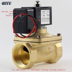 Image 5 - AC110V/220V/380V,DC12V/24V,Normally closed water solenoid valve,brass air valves DN10 DN15 DN20 DN25 DN32 DN40 DN50
