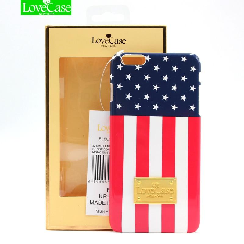 Pour iphone 6 6 S Mince dur PC DH camouflage drapeau national retour cas de couverture pour l'iphone 6 6 s Plus logo en métal anti-scratch téléphone cas