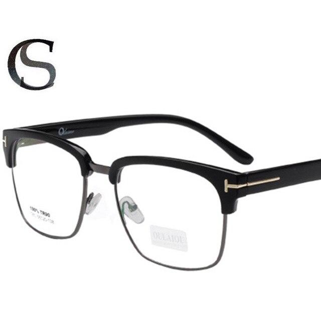 6046095172 Tr90 anteojos media llanta marcos para mujer hombre VINTAGE monturas para  miopía o de lectura con