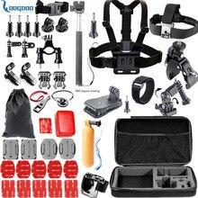 Loogdoo для GoPro Hero 5 Интимные аксессуары комплект шлем Крепление ремня подходит для Go Pro Hero 5 4 3 + SJ4000 SJCAM xiaomiyi 2 Камера TZ02