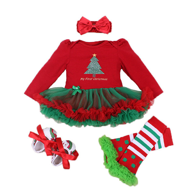 c6b42156d8636 2018 Hot Bébé Filles Vêtements Ensembles De Noël Bébé Princesse Robe  Barboteuses Bébé Costume Party Cosplay
