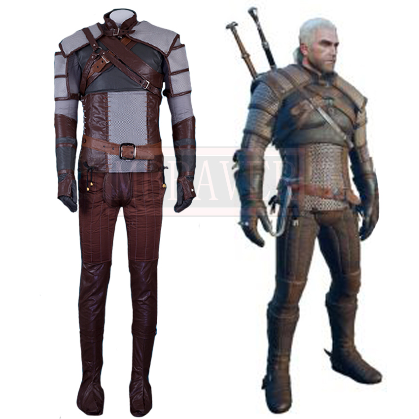 The Witcher 3: sauvage chasse Geralt de Rivia Cosplay Costume adulte hommes Halloween Cosplay tenue sur mesure