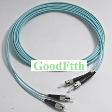 Cordons de raccordement de fibres cavaliers ST FC FC ST Multimode 50/125 OM3 10G Duplex GoodFtth 1 15m