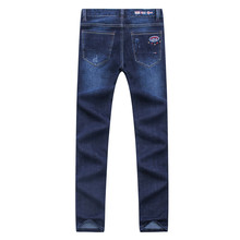 Tace&shark men's jeans straight famous brand jeans straight pants high quality denim stretch midweight low american Billionaire