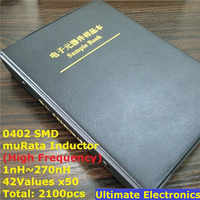 0402 muRata SMD Chip Inductor Diverse Kit 1nH ~ 270nH 42Valuesx50 Monster Boek