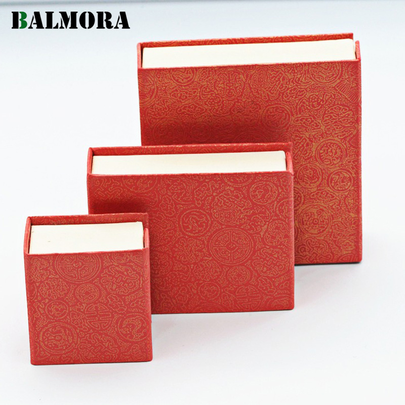 BALMORA 1 Piece Jewelry Packaging Gift Boxes for Ring Earrings Pendant Bracelet Bangle Boxes Red Color High Quality BZ0002