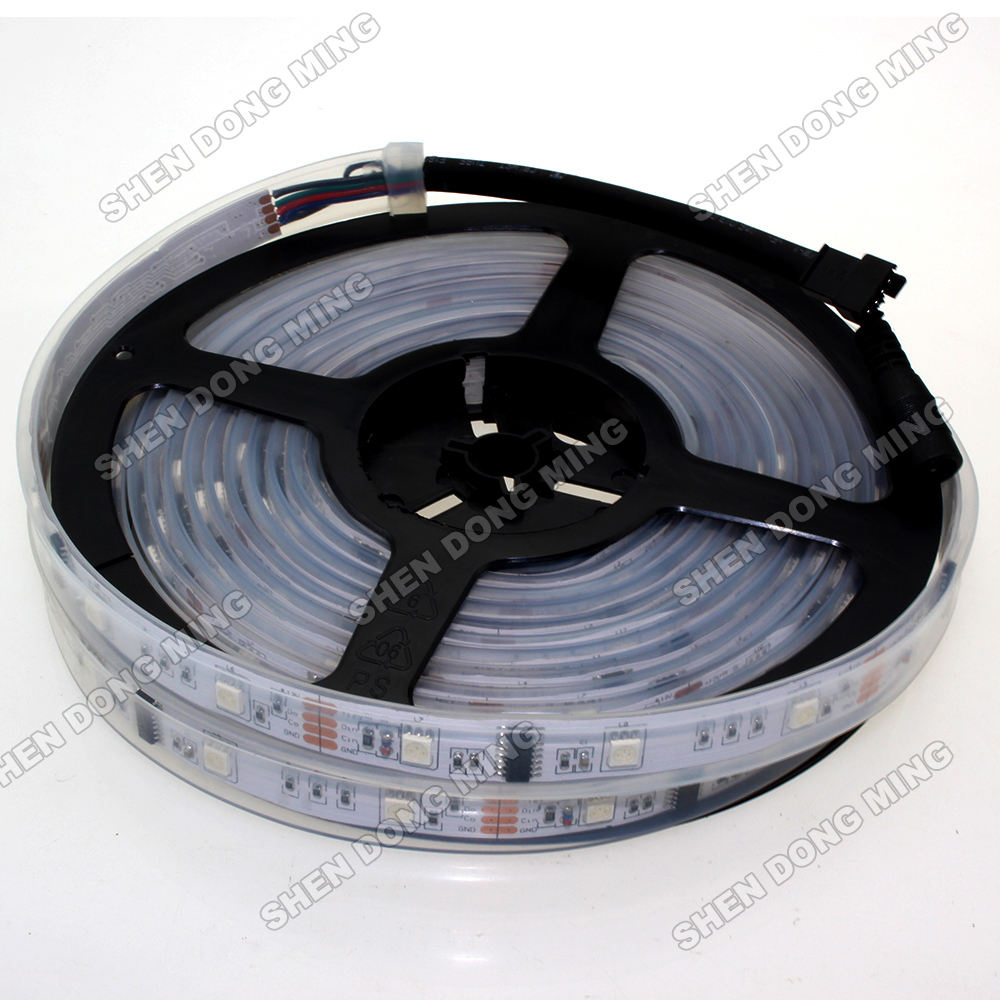 Free Shipping 5m 480LEDs 160IC WS2801 LED Strip Light Tape DC12V Dream Color Waterproof IP67 5050SMD RGB LED Pixel Strip WS2801