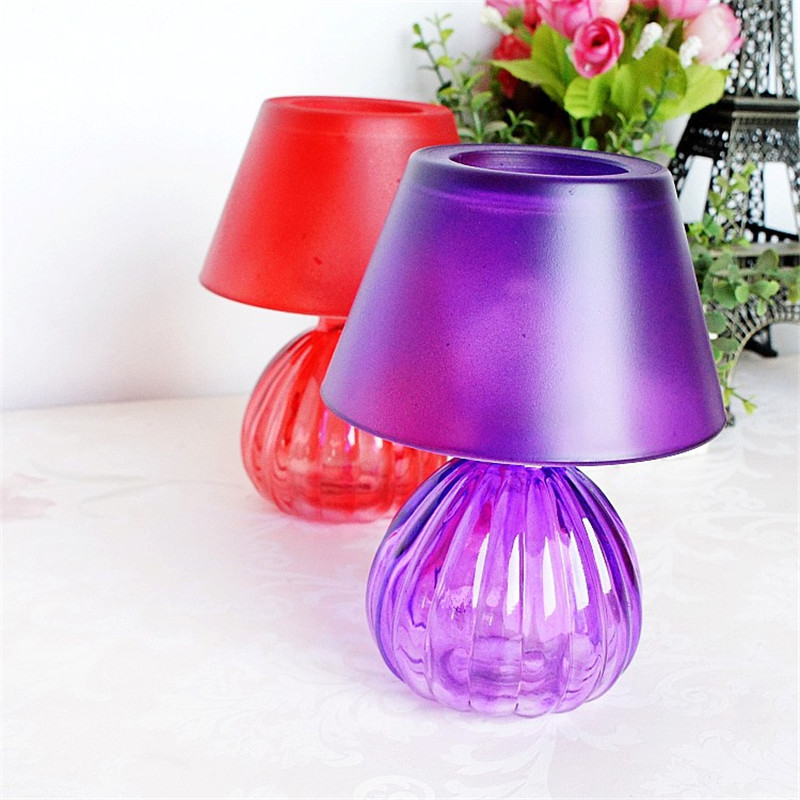 Modern Stand Lamp Model Glass Candle Holder TABLE desk candlestick Romantic Dinner Candles Candle Holders for Lovers Home decor