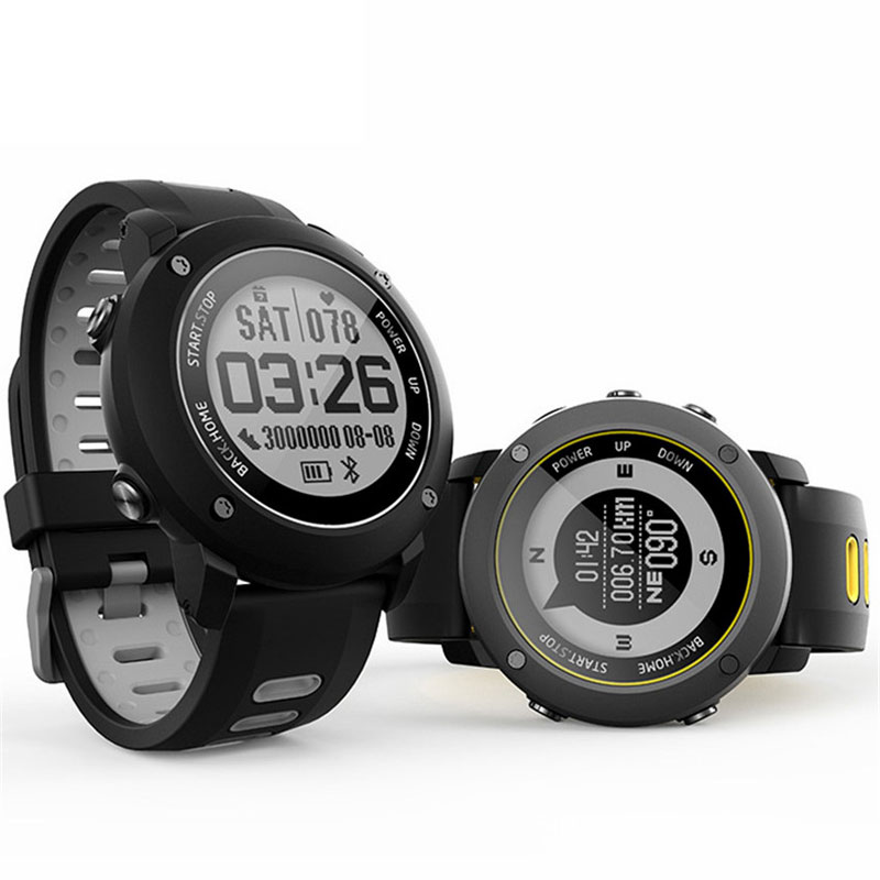 Professional Outdoor Sports GPS Smart Watch IP68 100 Meters Deep Waterproof Heart Rate Monitor Compass Altimeter
