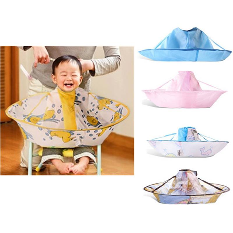 2016 Rushed Real Animal Kids Children Waterproof Hairdressing Bib Hair Cut Salon Hairstylist Barber Gown Cape Cloth S/m