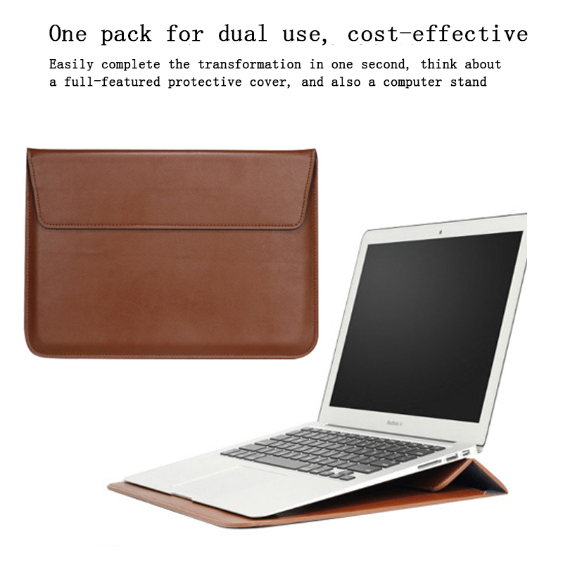Image 2 - New Notebook Case Laptop Sleeve Cover For Macbook Air 13 Pro Retina 11 12 2018 15 Touch Bar For Xiaomi Pro 15.6 Leather Bag-in Laptop Bags & Cases from Computer & Office