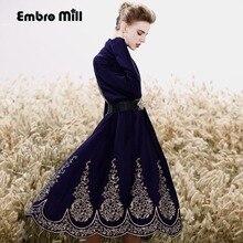 Женский костюм набор королевская вышивка жилет платье + свободный шерстяной вязаный цветочный кардиган пальто 2 шт. Элегантный женский костюм женский M-XXL