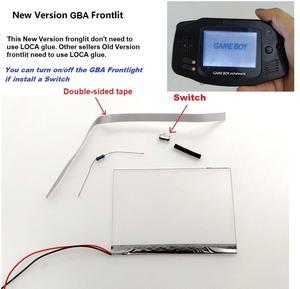 Image 1 - New Version Frontlit Frontlight Front Light Kit For GameBoy Advance For GBA