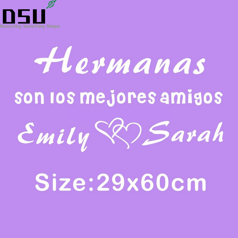 Customized Spanish Quotes Brothers Sisters Names Love -9208