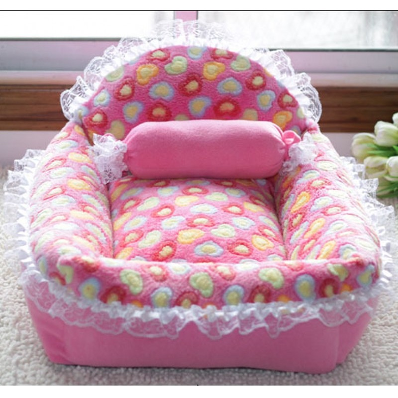 Coral velvet New Autumn And Winter Dog Bed Large Size Princess Nest kennel Small And Medium Dog Sofa House Pet Dogs Cats Beds