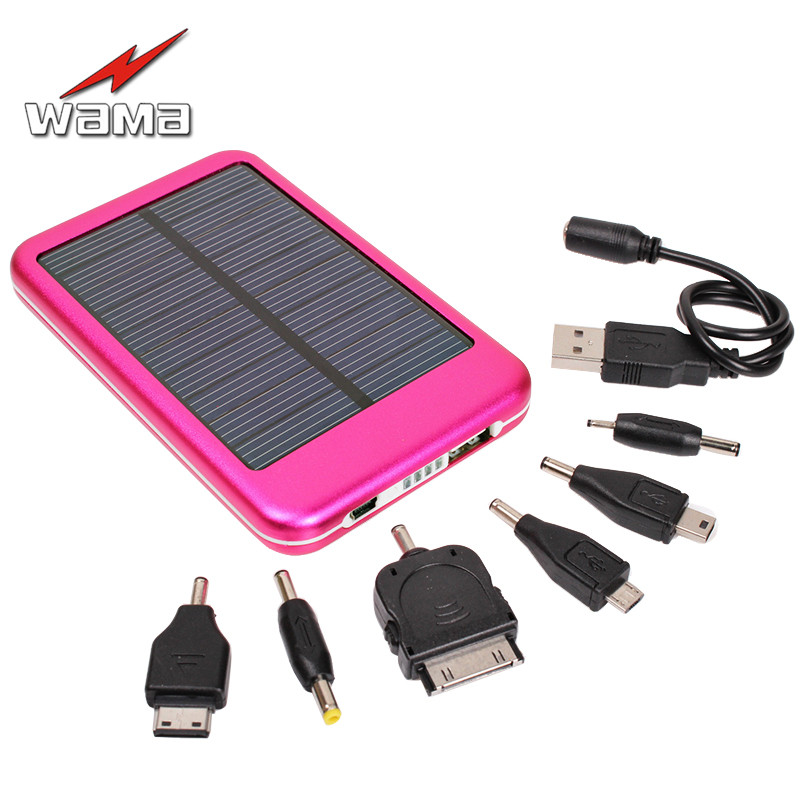 1x зава 5000 мАч Панели солнечные Зарядное устройство dual-USB Перезаряжаемые полимера внешний Запасные Аккумуляторы для телефонов + конвертер Ад…