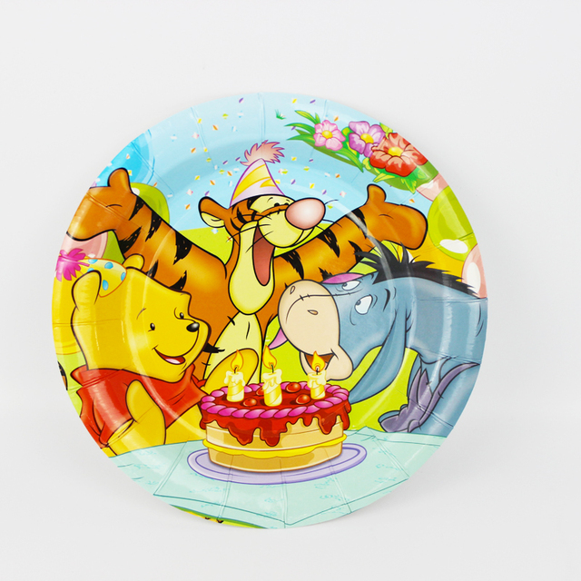 6pcs 7inch Winnie The Pooh Cartoon Pattern Theme Paper Party Plates Birthday Party Supplies for Kids  sc 1 st  AliExpress.com & 6pcs 7inch Winnie The Pooh Cartoon Pattern Theme Paper Party Plates ...