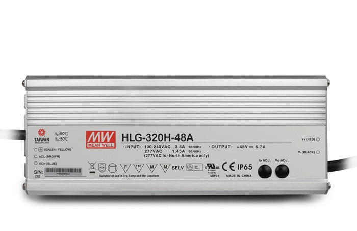 Original MEAN WELL 320W Single Output IP67 Constant Current /Voltage LED Driver Switching Power Supply With PFC HLG-320H стоимость