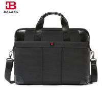 BALANG Business Laptop Bag Handbag Men Large Capacity Travel Crossbody Bag Oxford Waterproof Nylon Zipper Shoulder