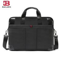 BALANG Business Laptop Bag Handbag Men Large Capacity Travel Crossbody Bag Oxford Waterproof Nylon Zipper Shoulder