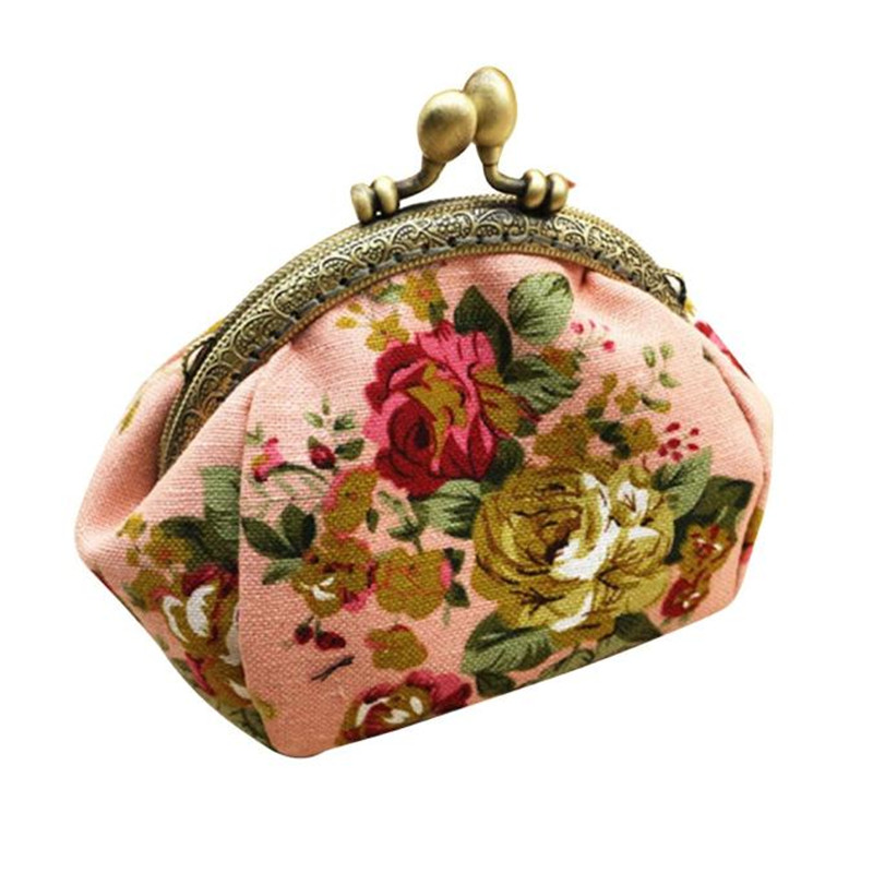 Coin Purses New Fashion Casual Women Wallets Lady Retro Vintage Flower Small Wallet Hasp Coin Purse Clutch Bag Female Wallets