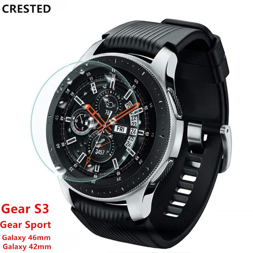 Gear S3 Frontier Glass For Samsung Galaxy Watch 46mm 42mm Gear Sport Band S2 Classic Screen Protector 9H 2.5D S 3 Tempered Glass