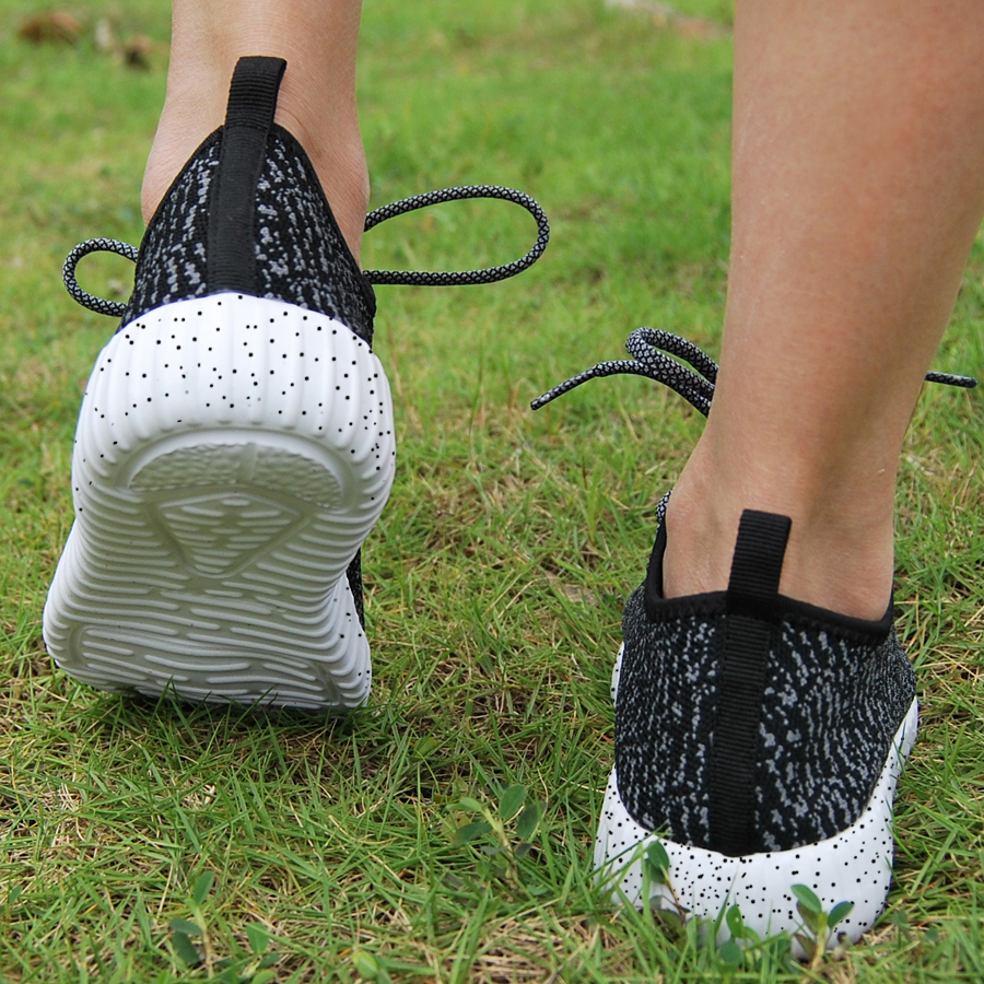 16 new black color sport shoes woman and man,new idea computer woven breathable sneakers woman & man,comfortable shoes 9
