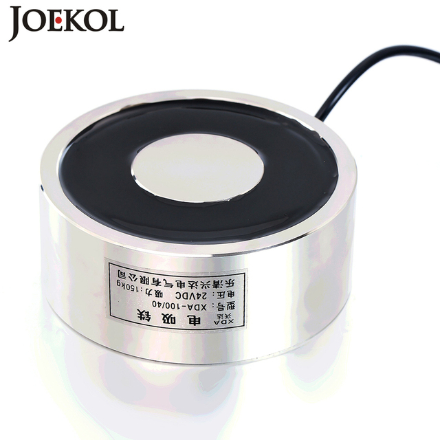 Large suction JK100/40 DC 6V 12V 24V Electromagnet Lifting 150KG Solenoid Sucker Holding Electric Magnet Non-standard custom
