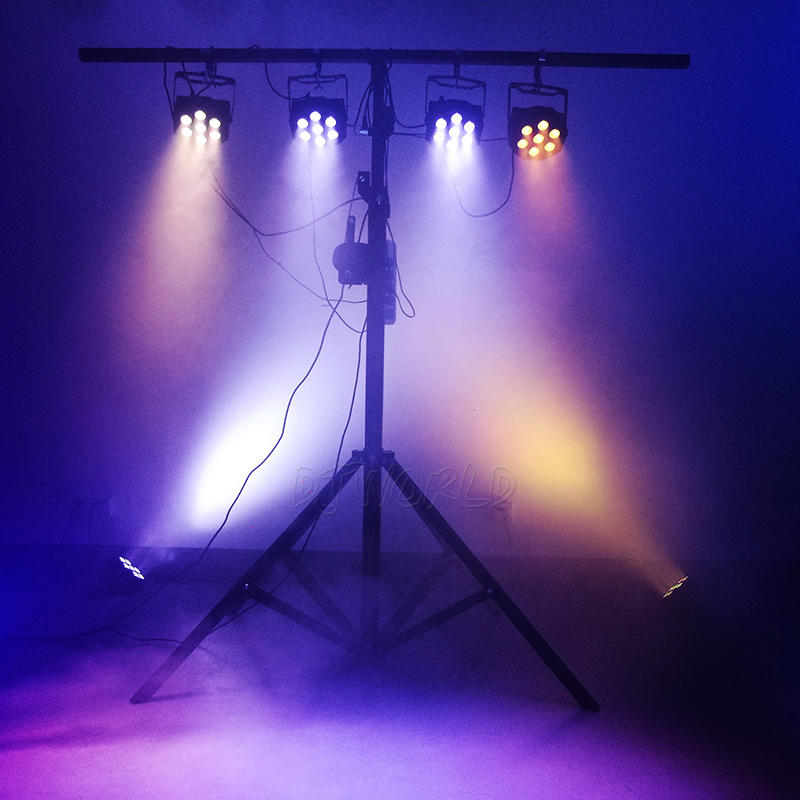 Image 5 - DJworld LED Flat Par 7x9W RGB 3IN1 Lighting DMX512 LED Stage Lighting DJ Disco Show Club Party Lights Top Selling Free Shipping-in Stage Lighting Effect from Lights & Lighting on