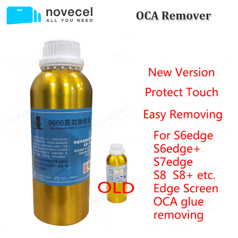 Novecel Free shipping to EU 1 bottles 1000ml 9666 oca glue remover for galaxy s6 edge ,s7 edge etc edge screen OCA glue